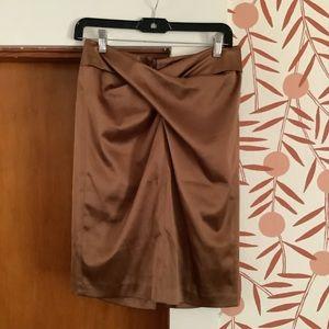 Famph NewYork Vintage Inspired Bronze Pencil Skirt